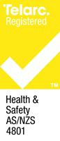 Telarc Registration Mark - Health & Safety - AS/NZS 4801